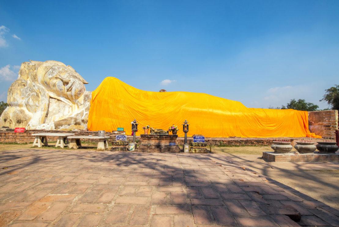 Buda reclinado, Ayuytthaya, Tailandia