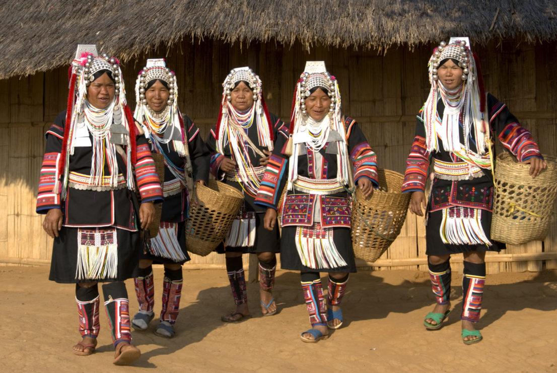 Tailandia pueblos tribales triángulo de oro - Akha